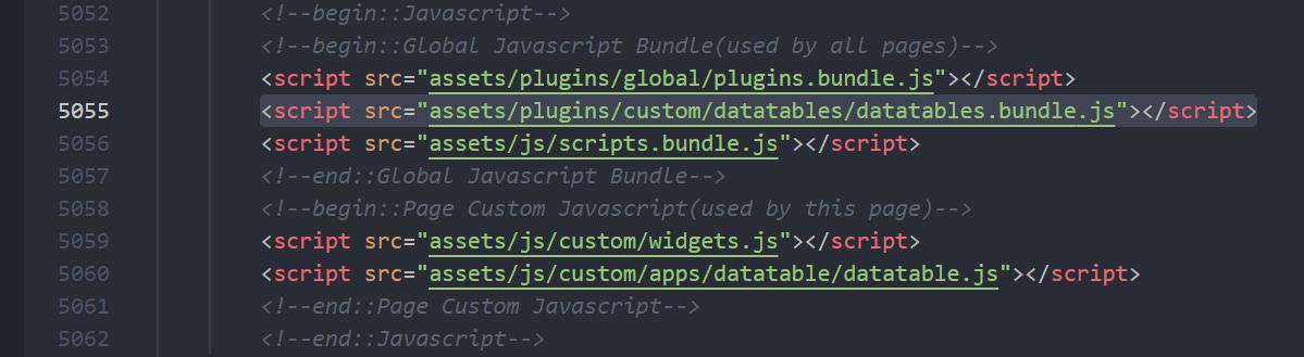 datatable bundle