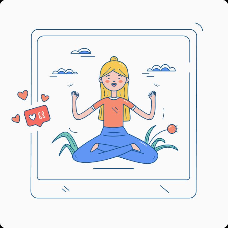 woman yoga illustration
