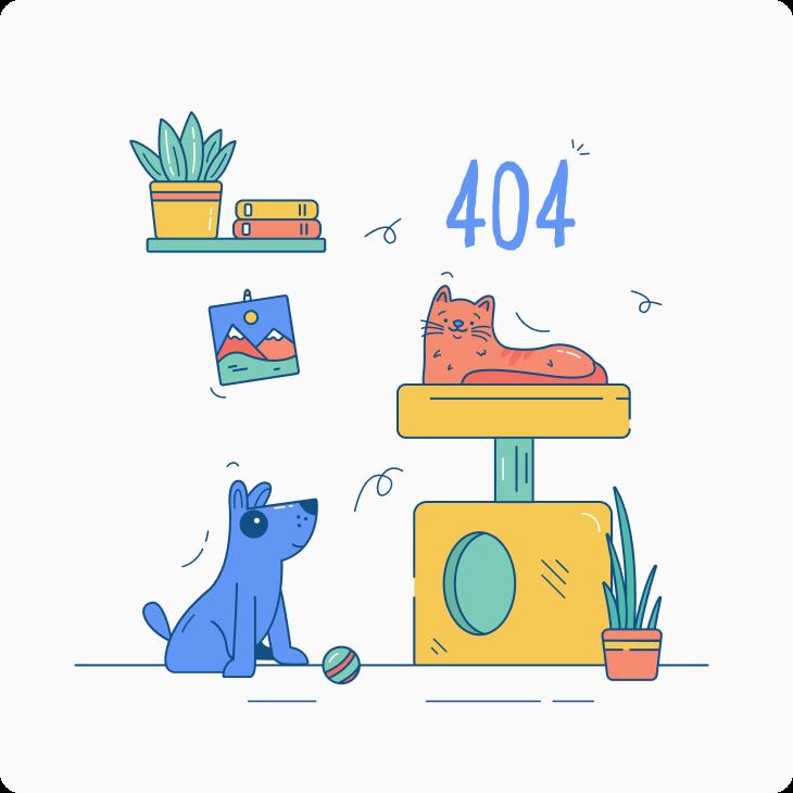 Error 404 page not found illustration