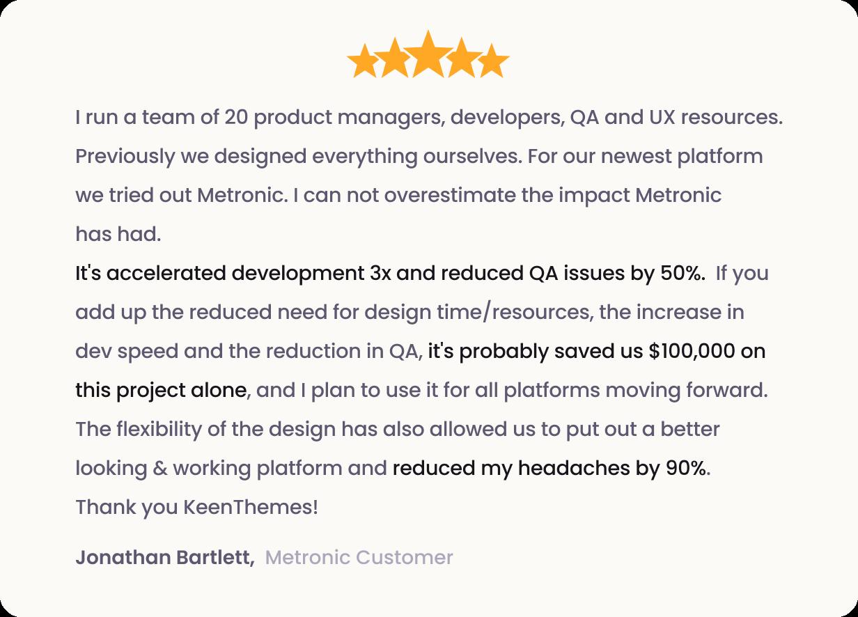 metronic review